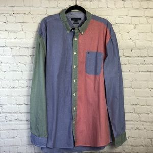Tommy Hilfiger. Long sleeve button down shirt. NWT